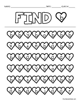 Find The Letter A-Z (heart themed)