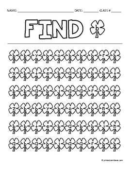 Find The Letter A-Z (St. Patrick's Day themed)