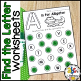 Find The Letter: Alphabet Recognition Worksheets