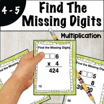 Find The Missing Digits Multiplication Problem Solving Task Cards
