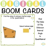 Find The Missing Internal Angle Of A Quadrilateral - Boom Cards™