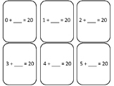 Find The Missing Number ( Adding to 20) 2nd grade