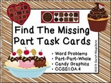 Algebra Math Task Cards (Part-Part-Whole)- First Grade