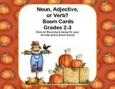 Find The Nouns, Verbs, and Adjectives Boom Cards-Fall Theme
