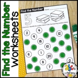Find The Number Dot Painting Worksheets