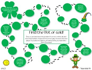 Find The Pot of Gold! St. Patrick's Day Long Division Game- 6.NS.2