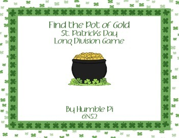 Find The Pot of Gold! St. Patrick's Day Long Division Game