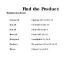 Find The Product