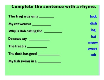 Find The Rhyme