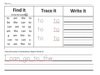 Find, Trace, Write: To