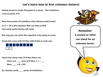 Find Unknown Factors