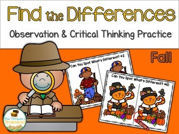 Find What's Different - Observation & Critical Thinking Fun - Fall