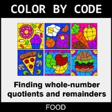 Find Whole-Number Quotients and Remainders - Color by Code - Food