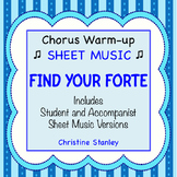 Find Your Forte Chorus Warm-up Skill Builder ♫ SHEET MUSIC