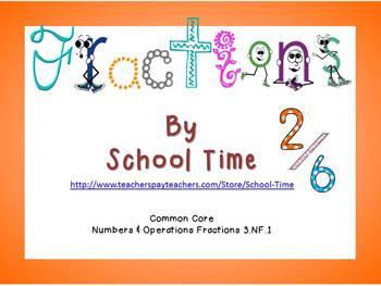 Find Your Fraction - CC 3.NF.1  - B/W Set