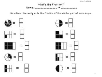 Find Your Fraction - CC 3.NF.1  - B/W and Color