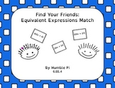Find Your Friends: Equivalent Expressions Match- 6.EE.4