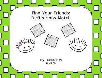 Find Your Friends: Reflections Match-6.NS.6b