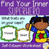 Self-Esteem Activity - Find Your Inner Superhero!
