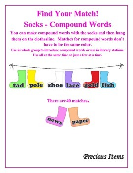 Find Your Match!  Compound Words