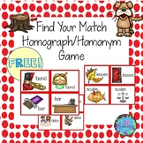 Homographs/Homonyms Literacy Game Find Your Match (Fun ESL Game!)