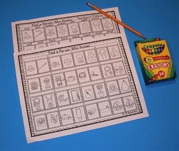 Elementary ESL Homophones (Find Your Match ESL Game)  ELL Activities