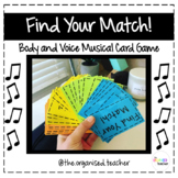 Find Your Match! Musical Card Game