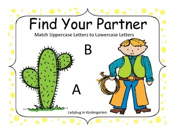 Find Your Partner Alphabet Match