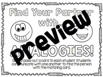 Find Your Partner with Analogies (Analogies Sort)