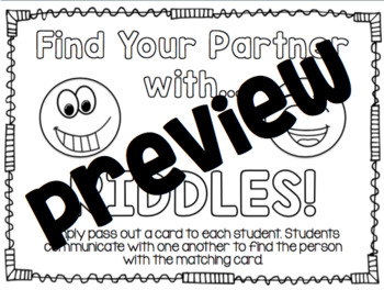 Find Your Partner with Riddles