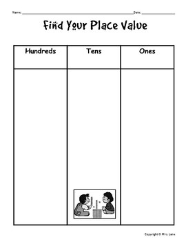 Find Your Place Value Worksheets (Hundreds, Tens, Ones)