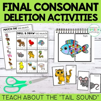 Find Your Tail Sound: Interactive Final Consonant Deletion Packet