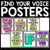 Find Your Voice Posters for the Classroom Freebie
