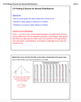 Find Z-Scores for Normal Distributions (Lesson with Homework)