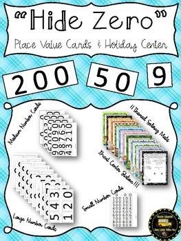 Hide Zero Place Value Cards