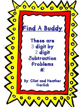 Find a Buddy 3 digit by 2 digit subtraction