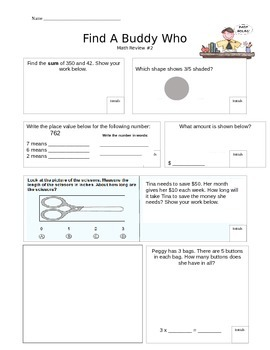 Find a Buddy Math Review