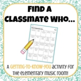 Find a Classmate Who | A Getting-To-Know-You Activity for Elementary Music