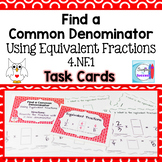 Find a Common Denominator Using Equivalent Fractions Task Cards