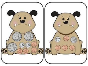 Find a Dog a Bone Money Math Game