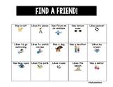 Find a Friend Bingo!