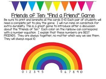 Find a Friend: Friends of Ten Game