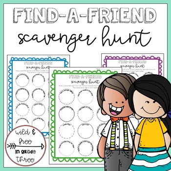 Find-a-Friend HUMAN Scavenger Hunt