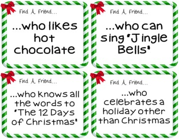 Find a Friend Holiday/Christmas Game {FREEBIE}