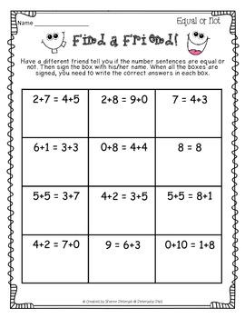 Find a Friend Math Skills