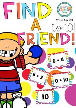Find a Friend! Maths Addition game to 10.