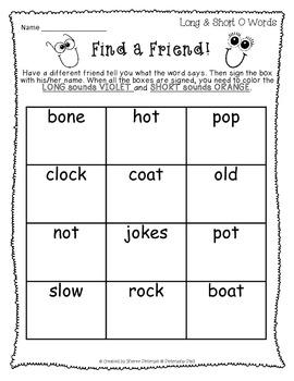 Find a Friend Reading Skills