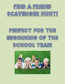 Find a Friend Scavenger Hunt