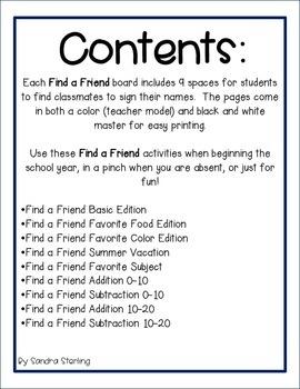 Find a Friend Set