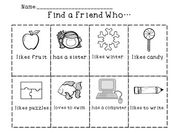 Getting to Know You-Find a Friend Who...
